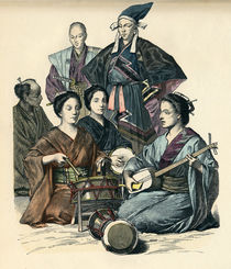 Japanische Trachten / Farbholzstich by AKG  Images