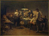 W.Makowski, Abendgesellschaft / Gemälde, 1875-97 von AKG  Images