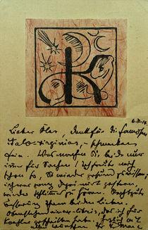 Franz Marc, Exlibris Bernhard Koehler von AKG  Images