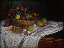 C.Monet, Stillleben mit Trauben u. Äpfeln von AKG  Images