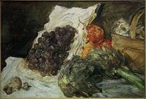 M. Slevogt, Stillleben mit Weintrauben und Artischocken von AKG  Images