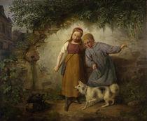 J. B. Zwecker, Zwei Kinder mit einem Spitz von AKG  Images