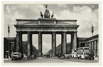 Berlin, Brandenburger Tor / Fotopostkarte, um 1939 by AKG  Images