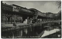 Berlin, Hochbahnhof Möckernbrücke / Fotopstkarte von AKG  Images