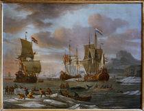 Abraham Storck, niederl. Fleuten b. Walfang von AKG  Images