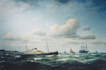 Franz Hünten / Post steamship Stephan by AKG  Images