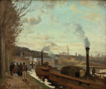 C.Pissarro, The Seine near Port-Marly by AKG  Images