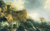 J.Peeters, Shipwreck on Rocky Coast by AKG  Images