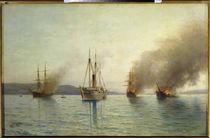 Konstantin zerstört Schiffe / Lagorio von AKG  Images