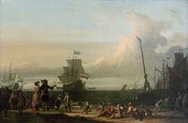 Einschiffung van Ghents 1671 / Backhuysen von AKG  Images