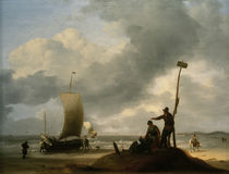 L.Backhuyzen / Beach with Fishing Boats by AKG  Images