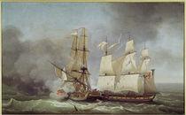 Sea battle of La Bayonnaise 1798 / Hue. by AKG  Images
