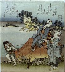 Hokusai, Blick auf Koshigoe / Farbholzschnitt von AKG  Images