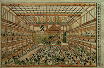 Hokusai, Perspektivbild des Gr. Kabuki-Theaters in Edo by AKG  Images