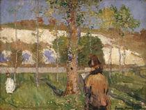 Marie Sisley am Ufer des Loing, Moret / Gemälde v. J.P.Russel by AKG  Images