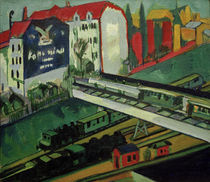 E.L.Kirchner, Straßenbahn und Eisenbahn von AKG  Images