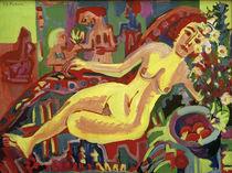 E.L.Kirchner, Nacktes Mädchen auf Diwan von AKG  Images