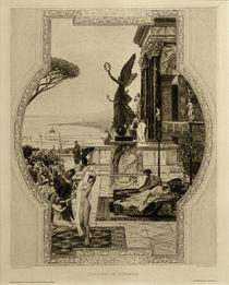 nach Klimt, Das antike Theater in Taormina / Radierung von AKG  Images