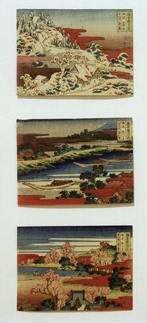 Hokusai, Serie Schnee, Mond und Blumen ... 1830–1833 von AKG  Images