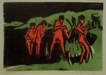 E.L.Kirchner / Bathers throwing Reeds by AKG  Images
