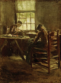 M.Liebermann, Dutch Interior, Sewing Room by AKG  Images