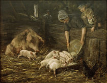 M.Liebermann, Hog House / Painting, 1888 by AKG  Images
