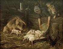M.Liebermann, Wochenstube (Schweinekoben) von AKG  Images