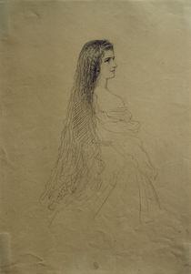 Kaiserin Elisabeth / Zeichnung von Winterhalter by AKG  Images