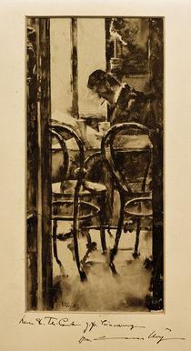 L.Ury, Café Gelber in Hamburg (Zeitungslesender Mann im Café) von AKG  Images