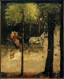 L.Ury, Frühling im Tiergarten (Dame in der Kutsche) by AKG  Images