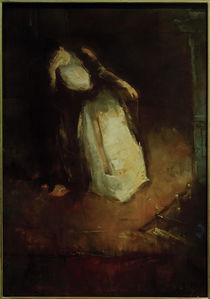 L.Ury, Frau am Kamin (Träumerei am Kamin) von AKG  Images