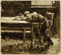 L.Ury, Schlafender Arbeiter by AKG  Images