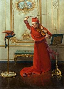 A.J.Penot, Kardinal mit Papagei by AKG  Images