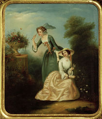 Two Young Ladies in the Park / Painting 19th C. by AKG  Images
