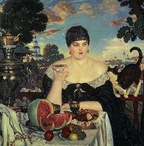 Kustodijew / Kaufmannsfrau beim Tee/ 1918 by AKG  Images