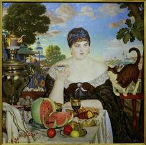 Kostodijew, Kaufmannsfrau beim Tee von AKG  Images