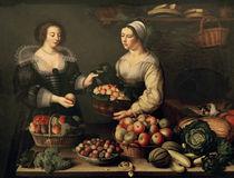 L.Moillon, Früchte– und Gemüseverkäuf. von AKG  Images