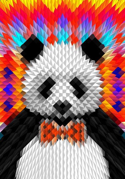 Panda-35x50cm