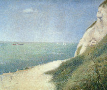 Beach at Bas Butin, Honfleur by Georges Pierre Seurat
