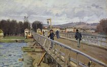 Footbridge at Argenteuil, 1872 by Alfred Sisley
