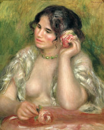 Gabrielle with a Rose, 1911 von Pierre-Auguste Renoir