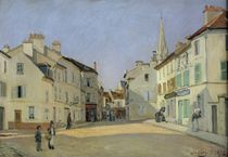 Rue de la Chaussee at Argenteuil by Alfred Sisley