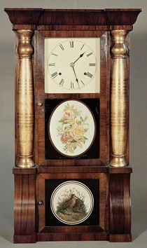 Columned clock, c.1855 by Seth Thomas
