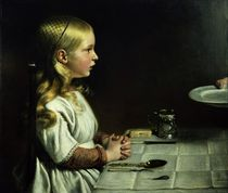 Florence Cope Saying Grace at Dinnertime von Charles West Cope