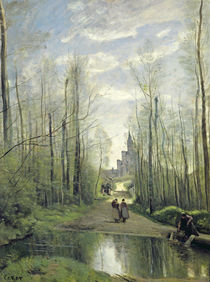 The Church at Marissel, 1866 by Jean Baptiste Camille Corot