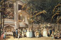 Vauxhall Gardens from Ackermann's 'Microcosm of London' von Thomas Rowlandson