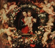 Virgin with a Garland of Flowers by Peter Paul Rubens