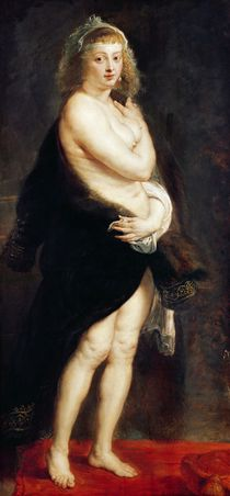 Helena Fourment in a Fur Wrap by Peter Paul Rubens