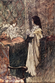 Children Talking at Night, 1911 by Charles Robinson