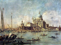 Venice, The Punta della Dogana with Santa Maria della Salute von Francesco Guardi